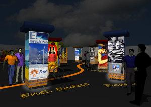 Installazione luminosa Enel - Endesa