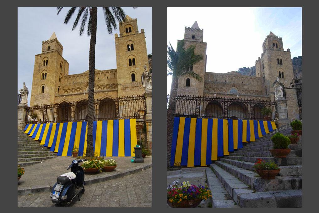 Installazione Duomo di Cefalù (Palermo)