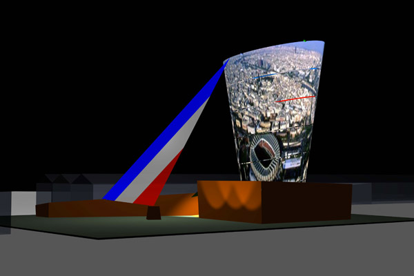 Olympic Landmark (Parigi) - Installazione Giorgio Gristina