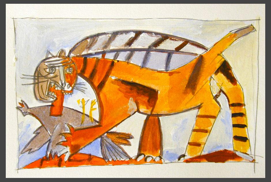 Gatto e ucccello (Picasso)